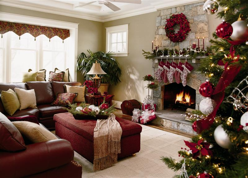 Holiday Decorating Endearing Of Christmas Living Room Decorating Pictures