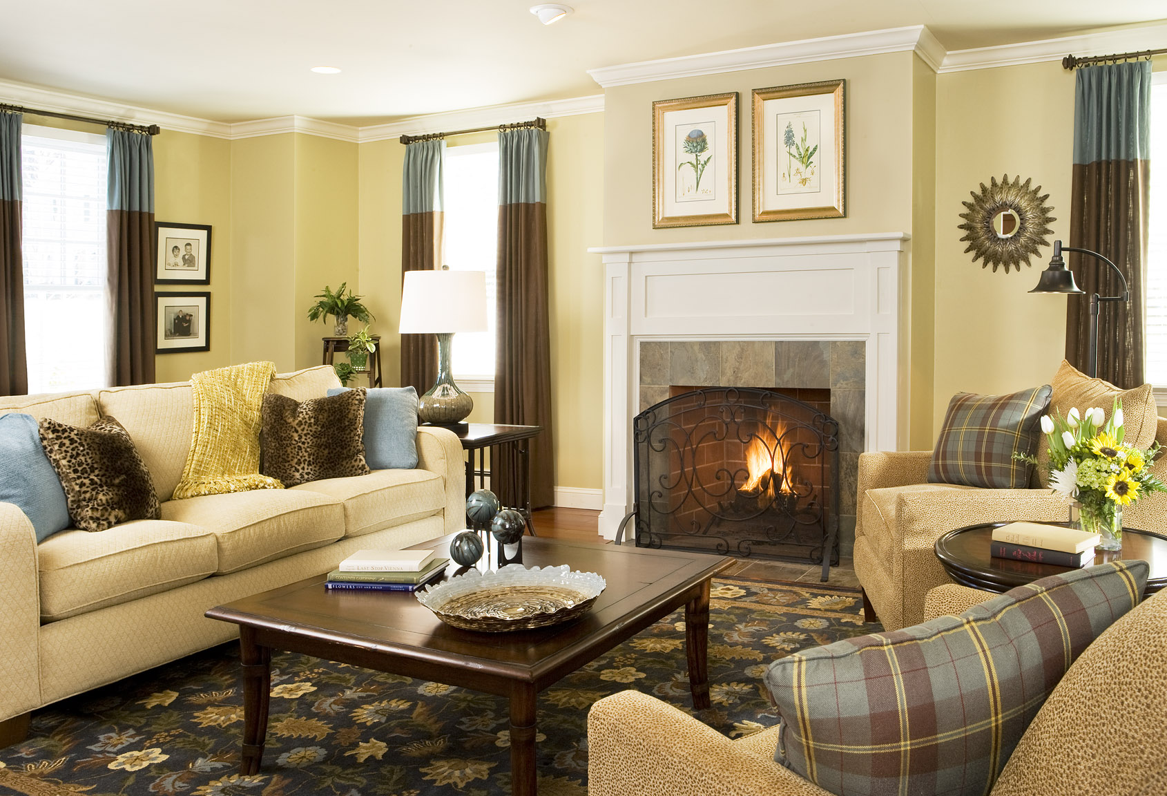 Let s talk color decorating den interiors blog - Living room yellow wall ...