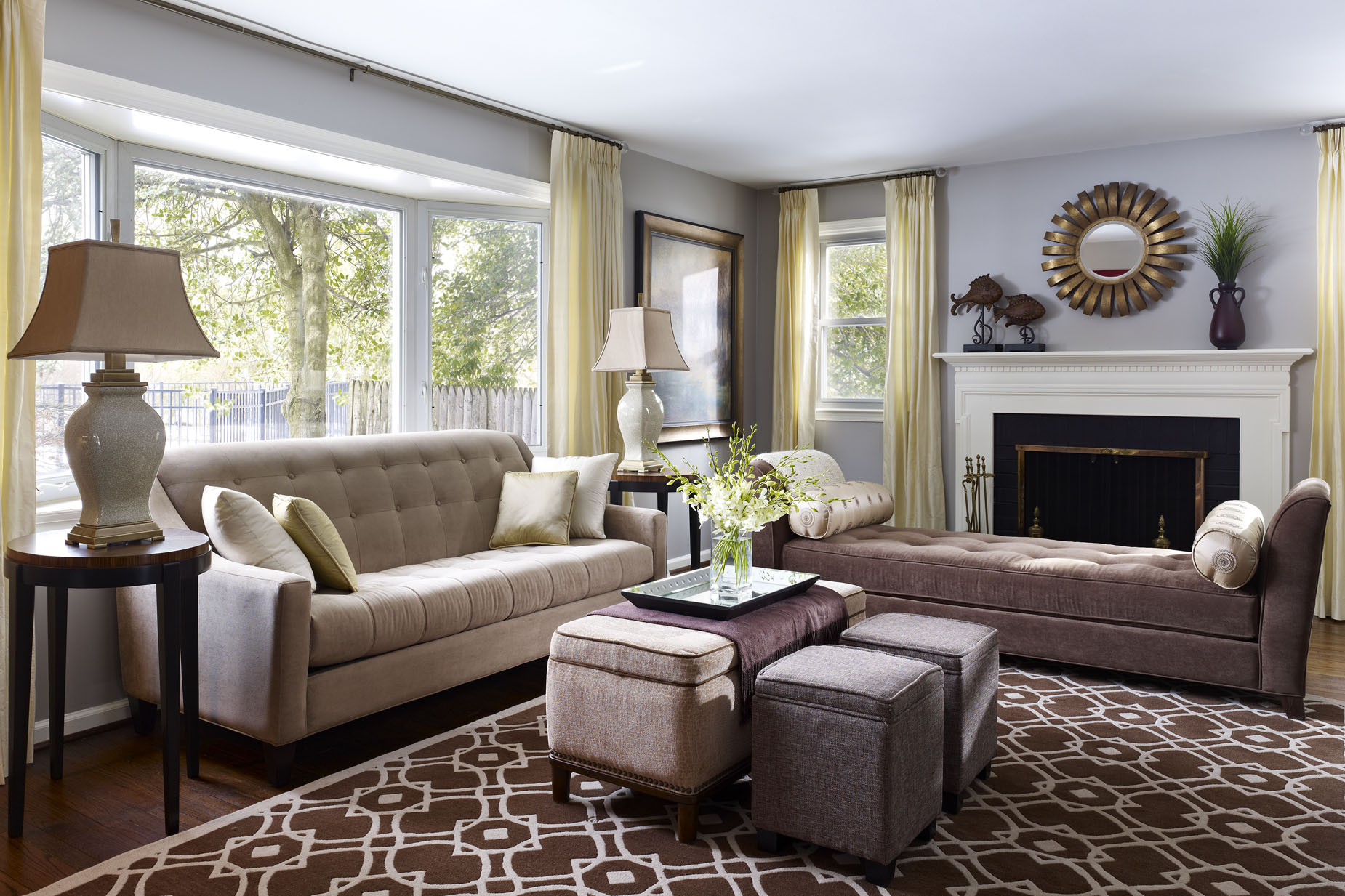 Transitional Living Room Furniture : Transitional Living Room  Modern World Furnishing Designer