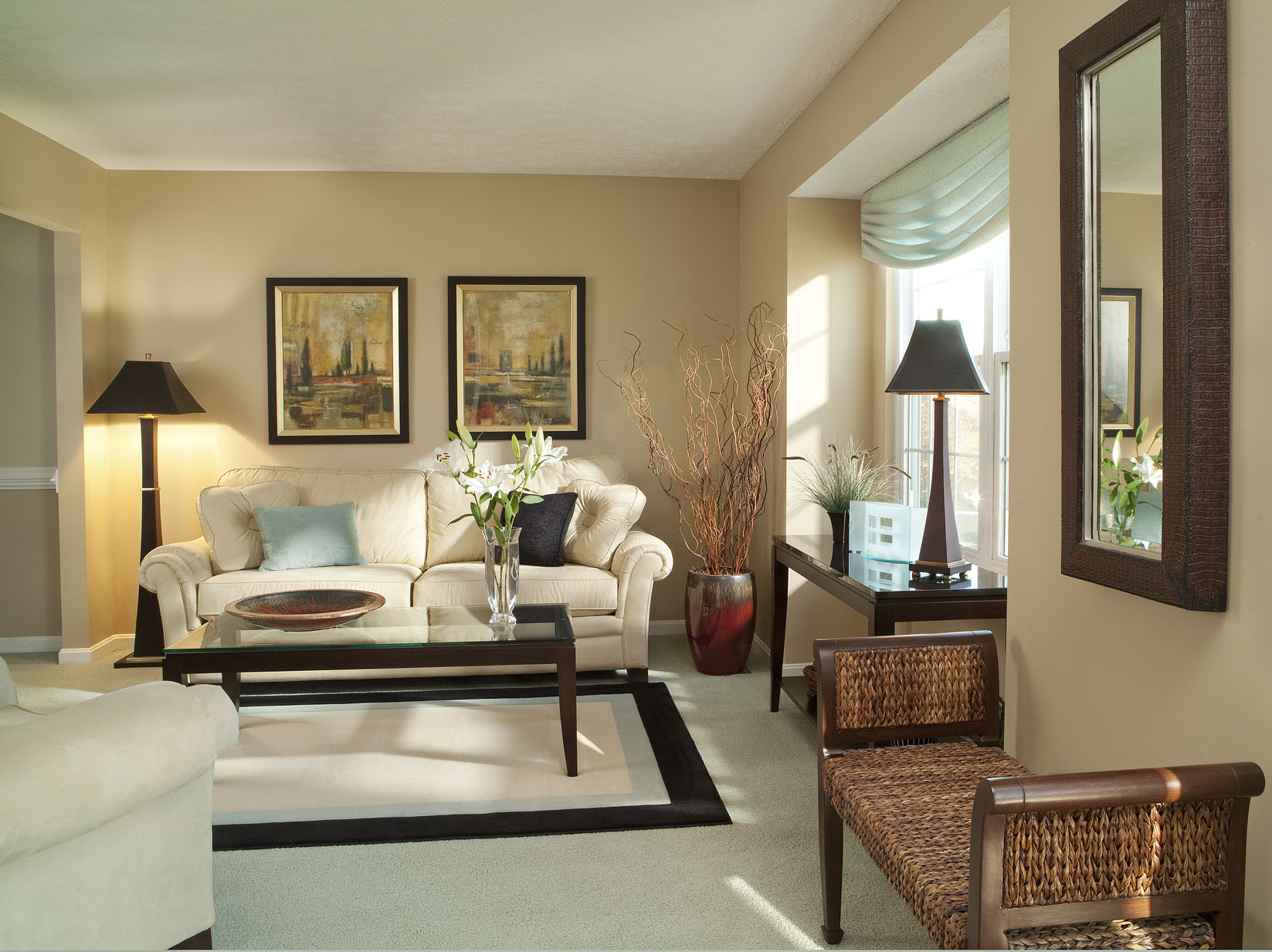 Notice The Sleek Line Of The Contemporarily Design Lamps Showcased In This  Traditionally Designed Living Room. Part 48