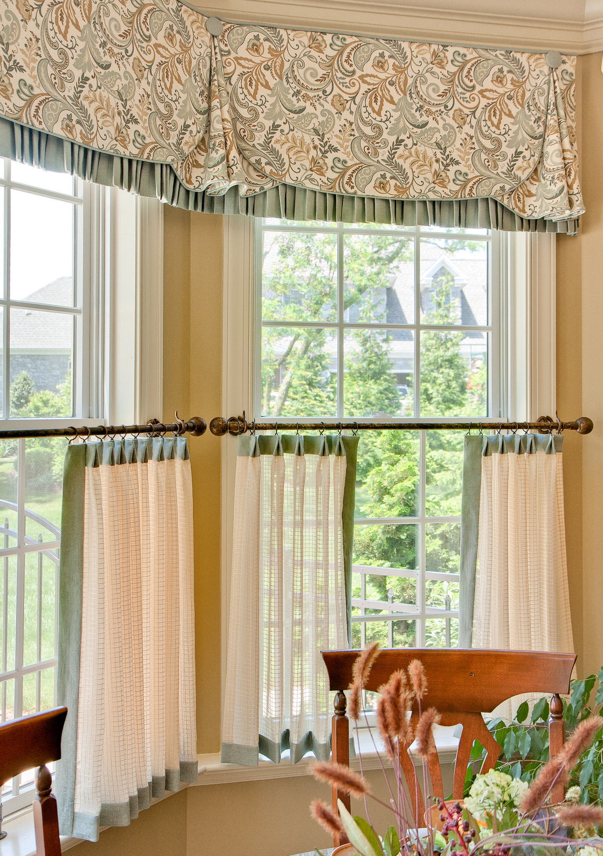 Confused about window treatments decorating den interiors for Kitchen window curtains