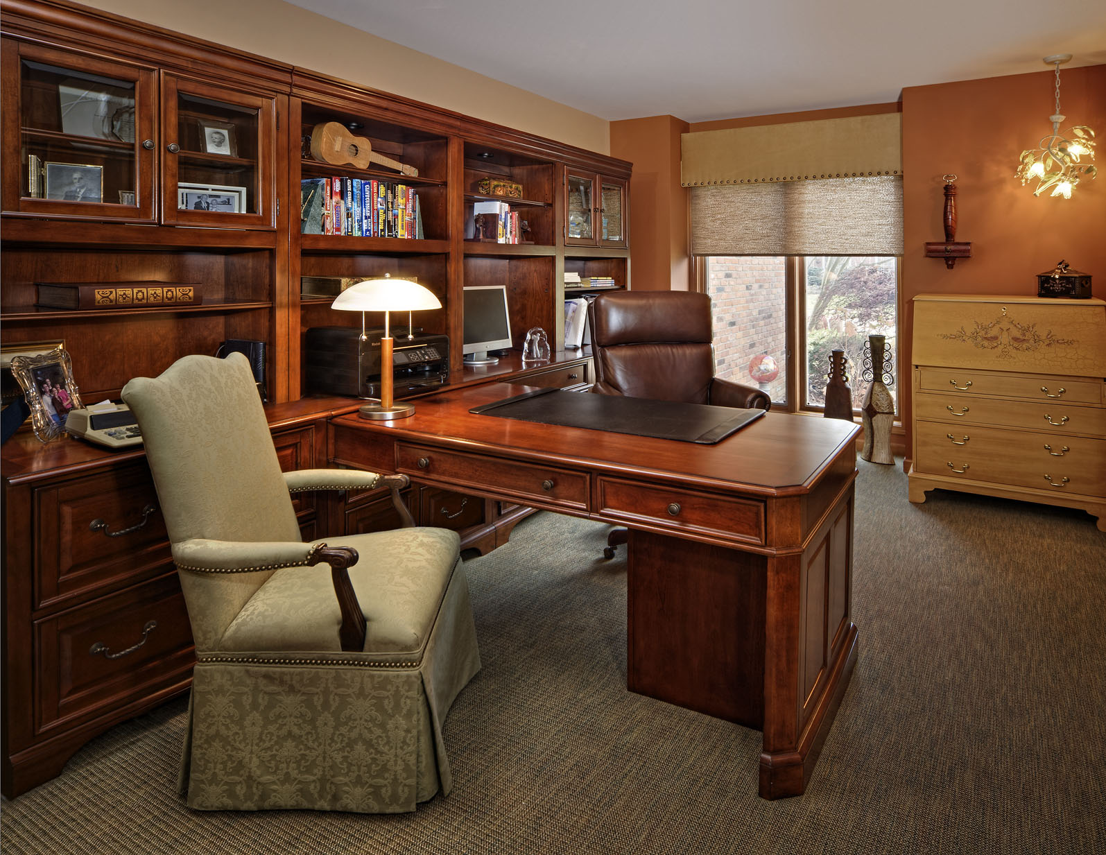 Shopping for new wood furniture decorating den interiors - Home office wood furniture ...