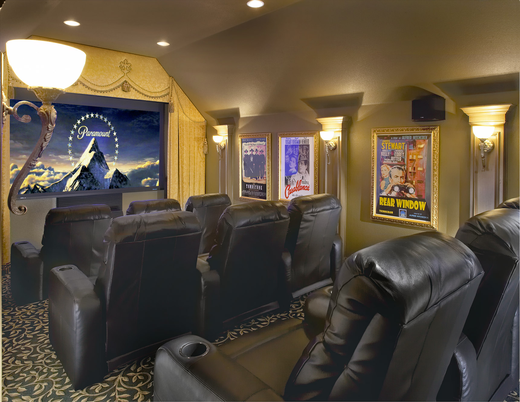 Media Room Decor Captivating With Media Room Decorating Ideas Picture