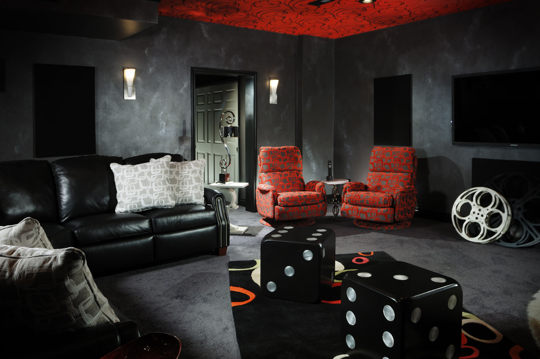 Magnificient Media Rooms Decorating Den Interiors